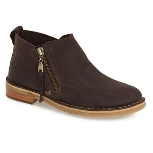 Ugg Australia Clementine Brown Leather Anke Boots